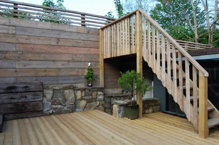 garage roof garden ideas - Ashley Down Bristol Terraced Sloped Gardens